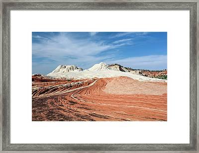 White Sandstone Framed Print by Michael Szoenyi