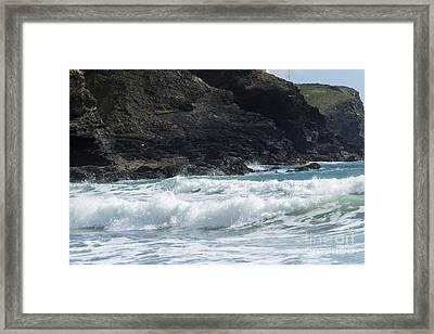 White Surf Framed Print