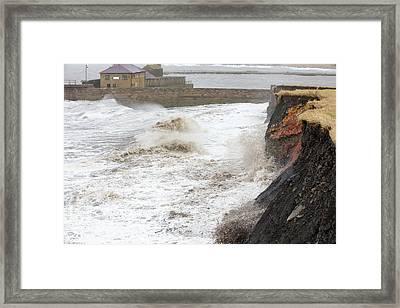Whitehaven Harbour Storm Framed Print by Ashley Cooper