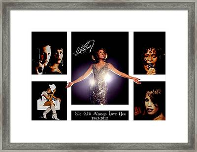 Whitney Houston Tribute Framed Print by Amanda Struz