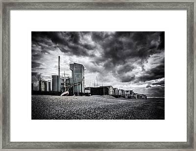 Whitstable Beach Framed Print by Ian Hufton