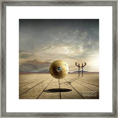 Who Controls You Framed Print by Franziskus Pfleghart