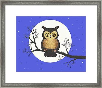 Whooo You Lookin' At Framed Print by Sophia Schmierer