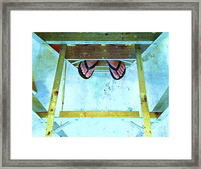 Framed Print featuring the photograph Who's Feet by Paul Cammarata