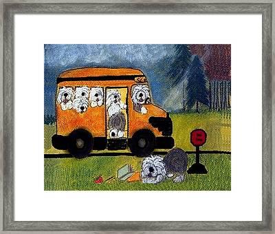 Wigglebottom Bus Framed Print