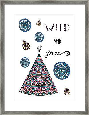 Wild And Free Framed Print by Susan Claire