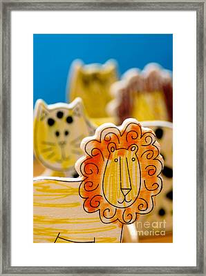 Wild Animals Colored By A Child Framed Print by Amy Cicconi