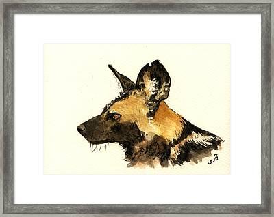 Wild Dog Framed Print by Juan  Bosco