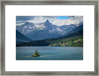Wild Goose Island Glacier National Park Framed Print