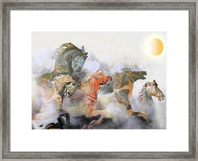Wild Horses Framed Print by Larry Butterworth