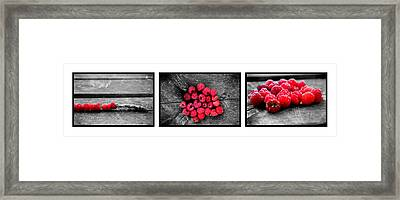 Wild Strawberries On Straw Framed Print by Tommytechno Sweden