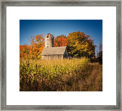 Wildwood Farm In Fall Framed Print