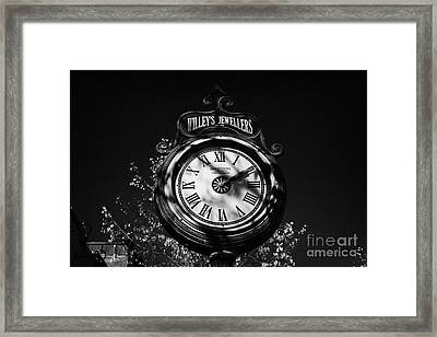willeys jewellers clock made by memory station clock company on broadway saskatoon Saskatchewan Canada Framed Print