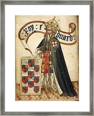 William Bruges's Garter Book Framed Print