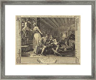 William Hogarth English, 1697 - 1764, The Idle Prentice Framed Print by Quint Lox