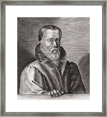 William Tyndale, English Scholar Framed Print