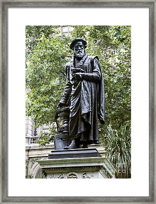 William Tyndale, English Theologian Framed Print