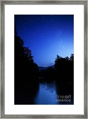 Williams River Summer Solstice Night Framed Print by Thomas R Fletcher