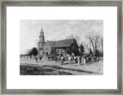 Framed Print featuring the painting Williamsburg Church by Granger