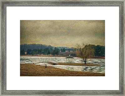 Willow Lake  Framed Print by Kathy Jennings