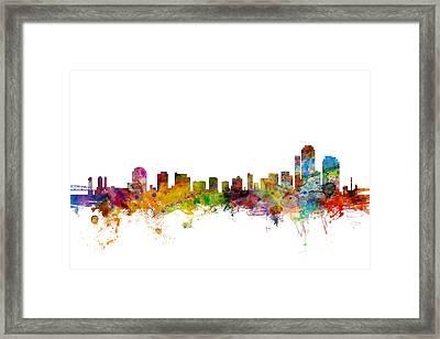 Wilmington Delaware Skyline Framed Print