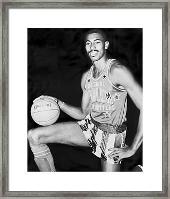 Wilt Chamberlain Framed Print by Fred Palumbo