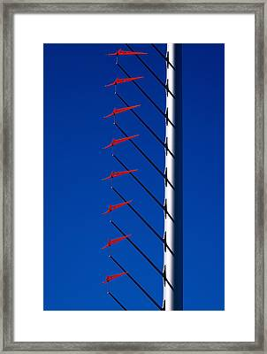 Wind Arrows Framed Print by Rona Black