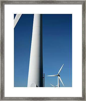 Wind Turbines Framed Print by Robert Brook