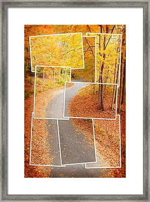 Winding Alley In Fall Framed Print by Alexey Stiop