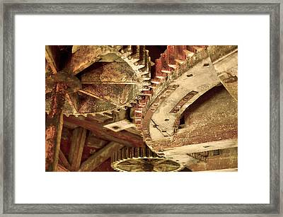 Windmill Wheels Framed Print by Tommytechno Sweden