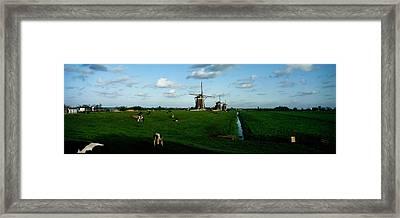 Windmills, Netherlands Framed Print