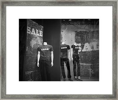 Window Display Sale With Mannequins No.0112 Framed Print