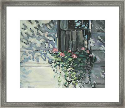 Window On Beacon Hill Framed Print