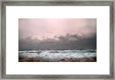 Window Sea Storm  Framed Print by Stelios Kleanthous