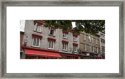 Windows Of Quebec City  Framed Print by Rosemary Legge