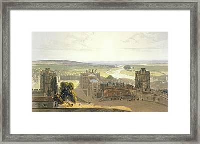 Windsor Castle, From A Compilation Framed Print