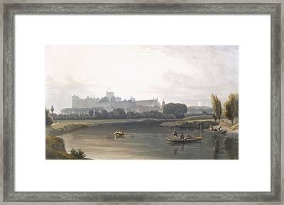Windsor Castle From The River Thames Framed Print