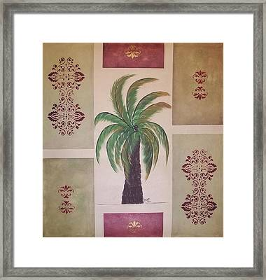 Windy Day Palm Framed Print