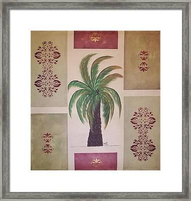 Windy Day Palm Framed Print by Cindy Micklos