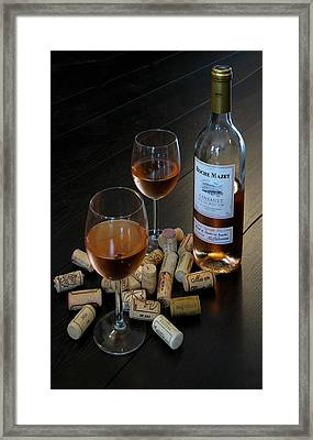 Wine And Corks Framed Print