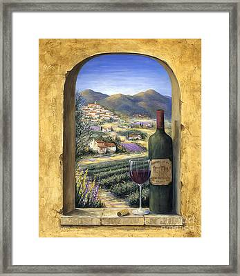 Wine And Lavender Framed Print
