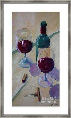 Wine Bottle Still Life  Framed Print