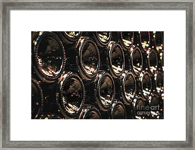 Wine Bottles Framed Print by Elena Elisseeva
