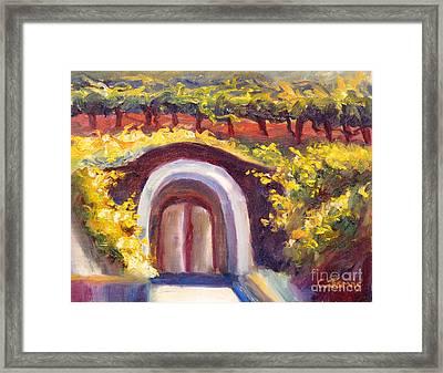 Wine Cave Framed Print
