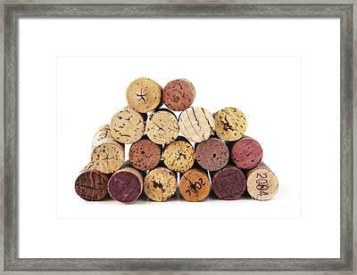 Wine Corks Framed Print by Elena Elisseeva