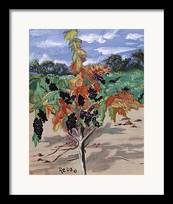 Solitary And One Of A Kind Wine Landscape Framed Prints
