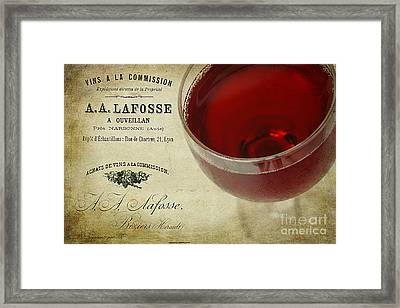 Wine Framed Print by Darren Fisher