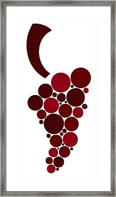 Wine Grape Framed Print by Frank Tschakert