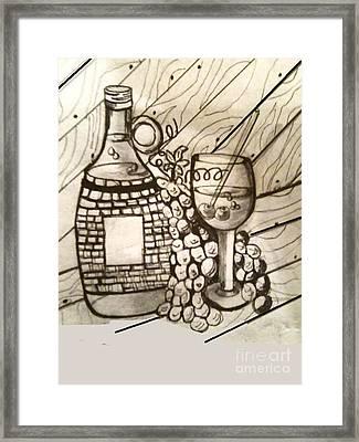 Wine O Wine Framed Print