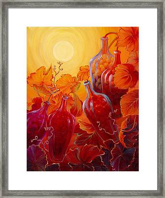 Framed Print featuring the painting Wine On The Vine II by Sandi Whetzel